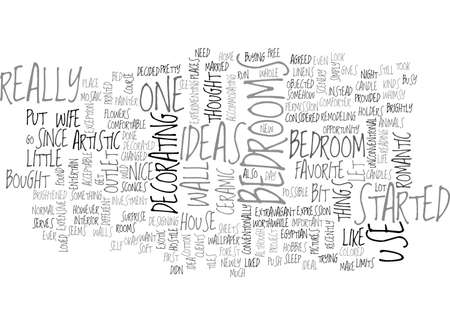entertaining: BEDROOMS IDEAS TEXT WORD CLOUD CONCEPT Illustration