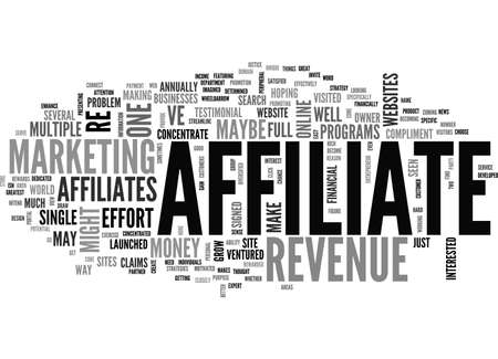 AFFILIATE REVENUE WHO TO INVITE TO THE PARTY TEXT WORD CLOUD CONCEPT