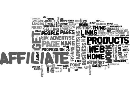 AFFILIATE S GUIDE TO SUCCESS TEXT WORD CLOUD CONCEPT