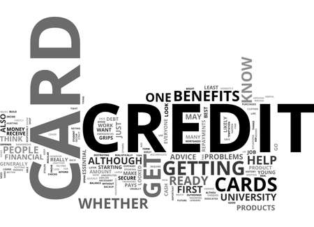 ARE YOU READY FOR A CREDIT CARD TEXT WORD CLOUD CONCEPT