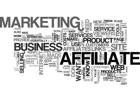 affiliates: AFFILIATES IN YOUR STRATEGY TEXT WORD CLOUD CONCEPT