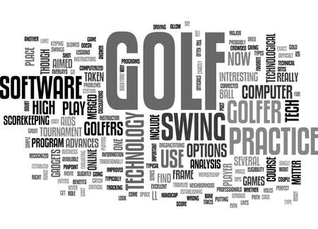 ARE YOU READY FOR HIGH TECH GOLF TEXT WORD CLOUD CONCEPT