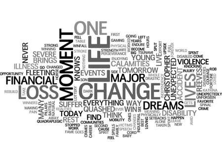 순간이 생명 텍스트 텍스트 구름 개념을 바꿀 수 있습니다. 일러스트