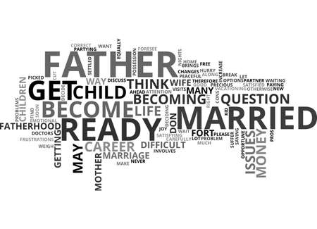 ARE YOU READY TO BE A FATHER TEXT WORD CLOUD CONCEPT
