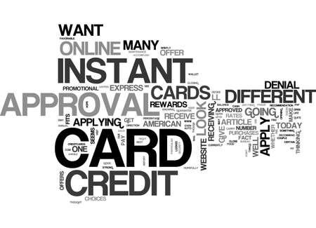 APPLY ONLINE CANADA CARD CREDIT TEXT WORD CLOUD CONCEPT Ilustração