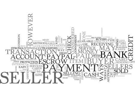 A SELLER S DASH FOR CASH TEXT WORD CLOUD CONCEPT