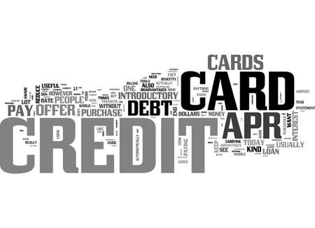 gimmick: APR CREDIT CARDS A TOOL TO ELIMINATE DEBT TEXT WORD CLOUD CONCEPT Illustration