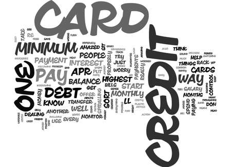 ARE YOU WORRIED ABOUT CREDIT CARD DEBT TEXT WORD CLOUD CONCEPT Illustration