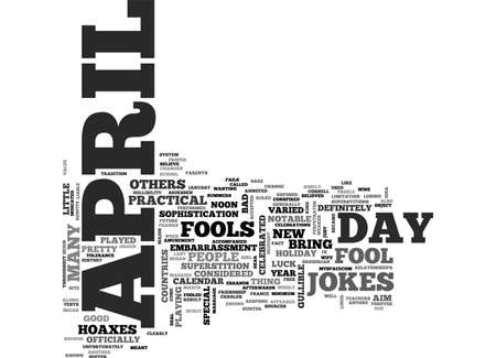 APRIL FOOL S TRICK TEXT WORD CLOUD CONCEPT Illusztráció