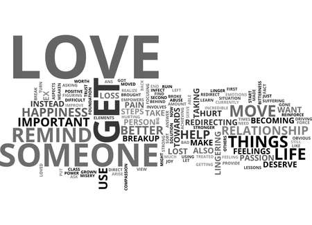 AFTER YOU BREAKUP HOW TO GET OVER SOMEONE YOU LOVE TEXT WORD CLOUD CONCEPT