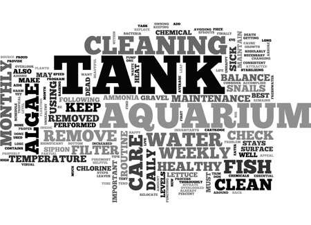 anywhere: AQUARIUM CARE GUIDE TEXT WORD CLOUD CONCEPT Illustration
