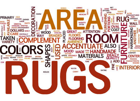 AREA RUGS TEXT WORD CLOUD CONCEPT