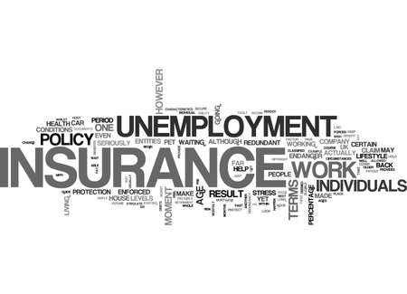 A SIMPLE GUIDE TO WHO CAN BENEFIT FROM UNEMPLOYMENT INSURANCE TEXT WORD CLOUD CONCEPT
