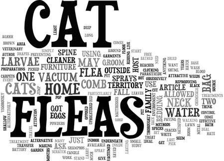 AGHHH MY CAT HAS GOT FLEAS TEXT WORD CLOUD CONCEPT Illustration