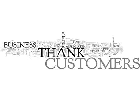 A SIMPLE THANK YOU IS MONEY FOR YOU TEXT WORD CLOUD CONCEPT Иллюстрация