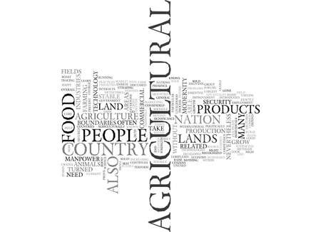 AGRICULTURE AND ITS SIGNIFICANCE TEXT WORD CLOUD CONCEPT