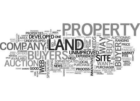A sophisticated way to buy undeveloped land text word cloud concept