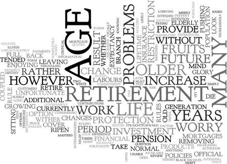 A STAKE IN THE FUTURE FOR OLDER PEOPLE TEXT WORD CLOUD CONCEPT