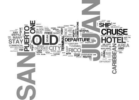 walled: A STAY AT OLD SAN JUAN IN PUERTO RICO TEXT WORD CLOUD CONCEPT Illustration