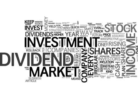 A STOCK MARKET INVESTMENT PLAN THAT NEVER LETS YOU DOWN TEXT WORD CLOUD CONCEPT