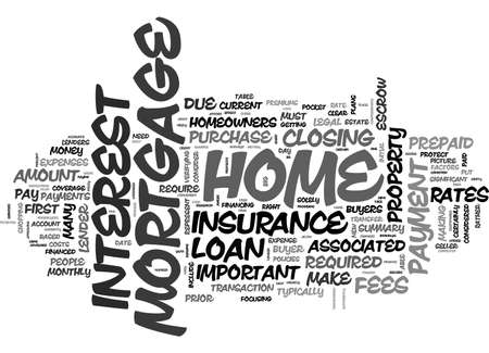 A SUMMARY OF MORTGAGE FEES TEXT WORD CLOUD CONCEPT Illustration