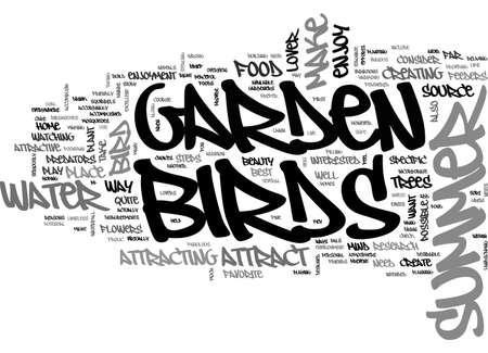 A SUMMER GARDEN FOR THE BIRDS TEXT WORD CLOUD CONCEPT