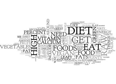 analyses: A TASTY WAY TO DO THE RAW VEGAN DIET TEXT WORD CLOUD CONCEPT