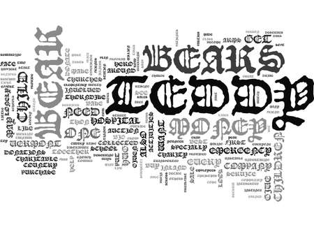A TEDDY BEAR FOR EVERYONE TEXT WORD CLOUD CONCEPT