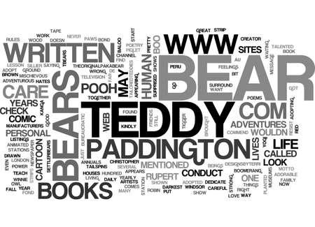 A TEDDY BEARS LIFE TEXT WORD CLOUD CONCEPT Illustration
