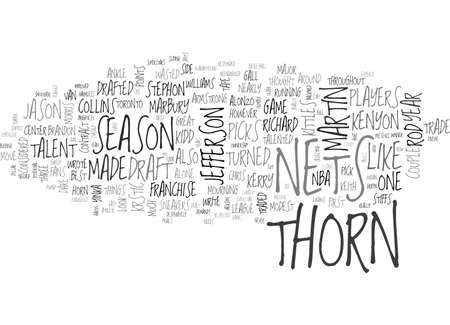 A THORN ON THEIR SIDE TEXT WORD CLOUD CONCEPT