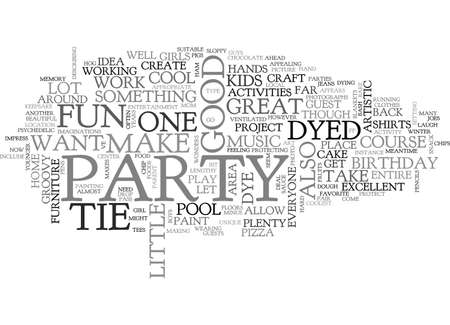 A TIE DYED BIRTHDAY BASH TEXT WORD CLOUD CONCEPT Illustration