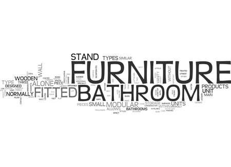 욕실 가구 텍스트 단어 구름 개념에 대한 Z부터 일러스트