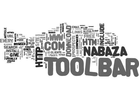 A TOOLBAR FOR EACH TEXT WORD CLOUD CONCEPT Illustration