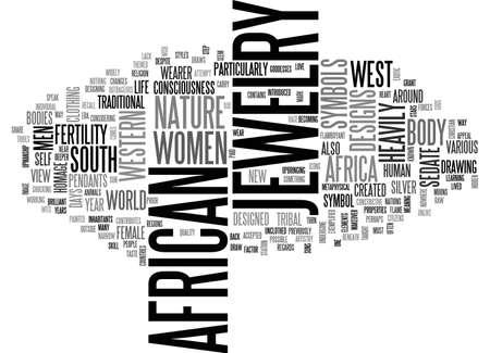 서쪽 텍스트 단어 구름 개념의 맛에서 아프리카의 한 터치 일러스트