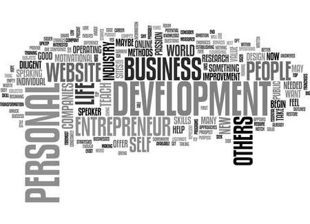 BEGIN A PERSONAL DEVELOPMENT ENTREPRENEUR BUSINESS TEXT WORD CLOUD CONCEPT