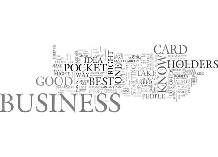 BE ON YOUR WAY TO SUCCESS WITH POCKET BUSINESS CARD HOLDERS TEXT WORD CLOUD CONCEPT