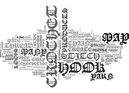 theorize: BEGINNER CROCHET TEXT WORD CLOUD CONCEPT Illustration