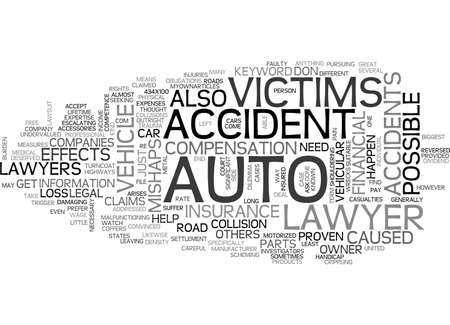 AUTO ACCIDENT LAWYER TEXT WORD CLOUD CONCEPT