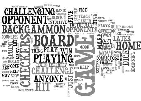 tough: BEGINNERS BACKGAMMON HOW TOUGH IS IT TEXT WORD CLOUD CONCEPT