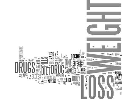 BE SAFE WHILE YOU LOSE WEIGHT WITH WEIGHT LOSS DRUG TEXT WORD CLOUD CONCEPT