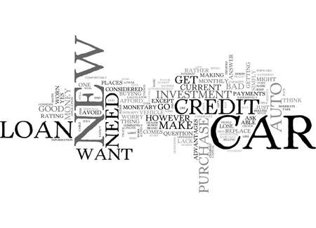 AUTO LOAN NEW CAR TEXT WORD CLOUD CONCEPT