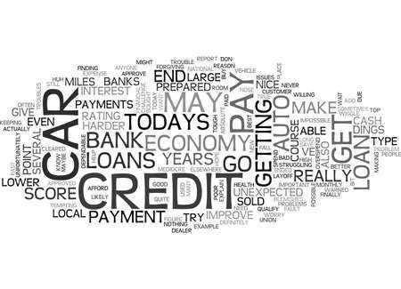 anyone: AUTO LOANS IN TODAYS ECONOMY TEXT WORD CLOUD CONCEPT