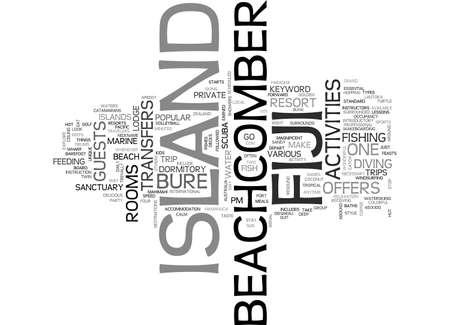 テキスト WORD クラウドの概念はビーチコーマー アイランド フィジー