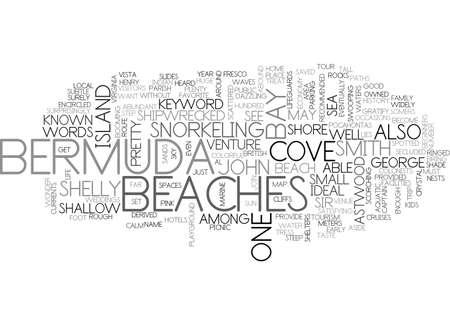 BEACHES OF BERMUDA TEXT WORD CLOUD CONCEPT Ilustração