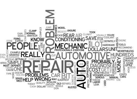 AUTO REPAIR TEXT WORD CLOUD CONCEPT Иллюстрация