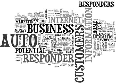 responders: AUTO RESPONDERS DO I NEED ONE TEXT WORD CLOUD CONCEPT