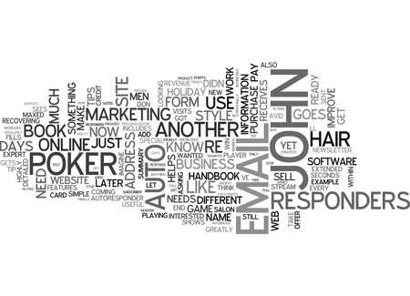 マーケティング担当者の自動レスポンダー マジック トリック テキスト WORD クラウド コンセプト  イラスト・ベクター素材