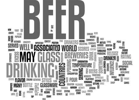 BEER CULTURE TEXT WORD CLOUD CONCEPT