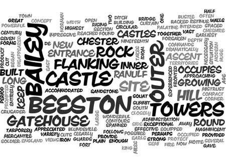 BEESTON CASTLE TEXT WORD CLOUD CONCEPT