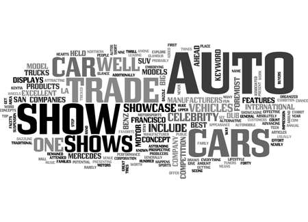 AUTO TRADE SHOWS TEXT WORD CLOUD CONCEPT